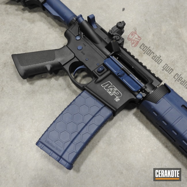 Cerakoted: SHOT,AR,Two Tone,Smith & Wesson,KEL-TEC® NAVY BLUE H-127,Tactical Rifle