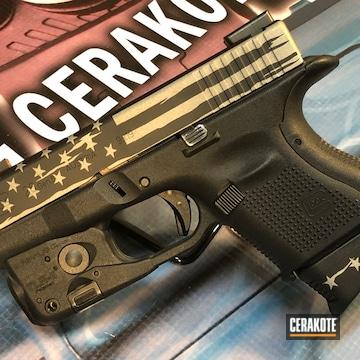 Cerakoted American Flag Glock 26 Handgun