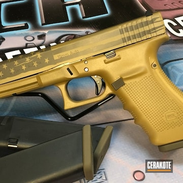 Cerakoted American Flag Two Toned Glock 45