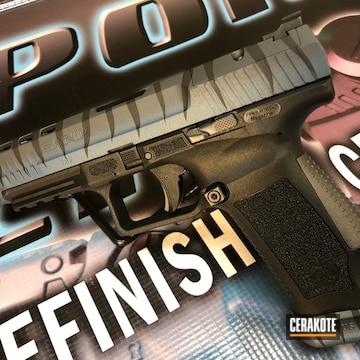 Cerakoted Tiger Stripe Canik Handgun