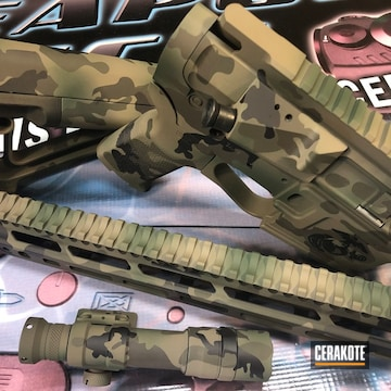 Cerakoted Multicam .556 Rifle Parts