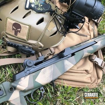 Cerakoted Splinter Camo 7.62 Springfield Socom 16 Rifle
