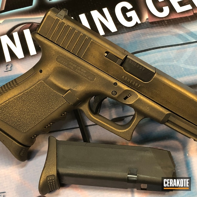 Cerakoted: S.H.O.T,9mm,Graphite Black H-146,Distressed,Burnt Bronze H-148,Pistol,Glock,Glock 23