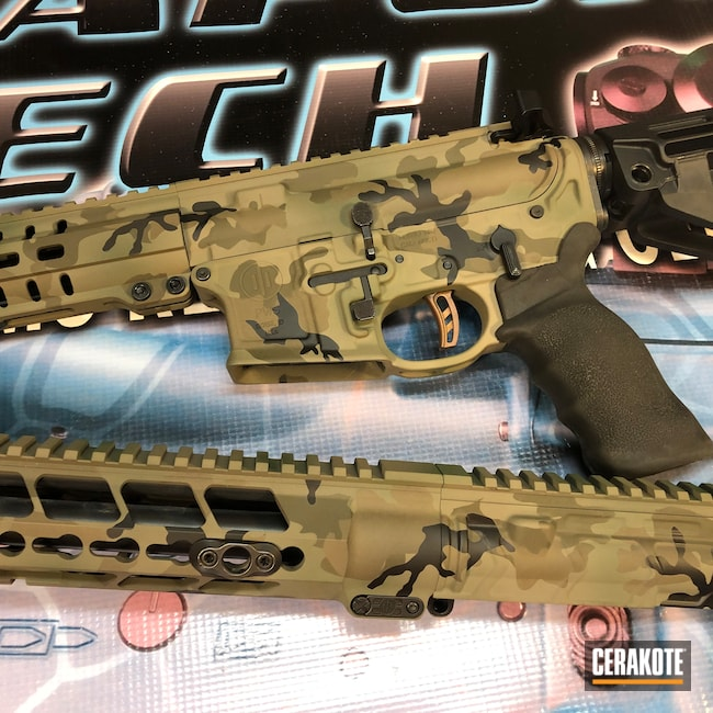 Cerakoted: SHOT,Highland Green H-200,MAGPUL® FLAT DARK EARTH H-267,Graphite Black H-146,Woodland Camo,Patriot Brown H-226,Tactical Rifle,O.D. Green H-236,PWS,5.56