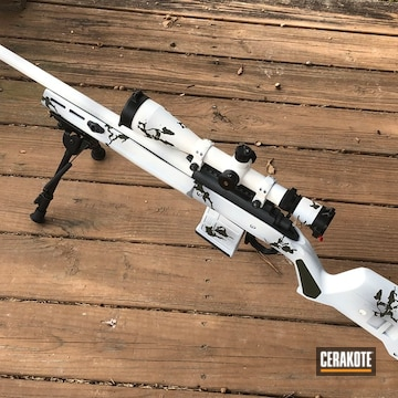 Cerakoted Winter Camo Remington .308 Rifle