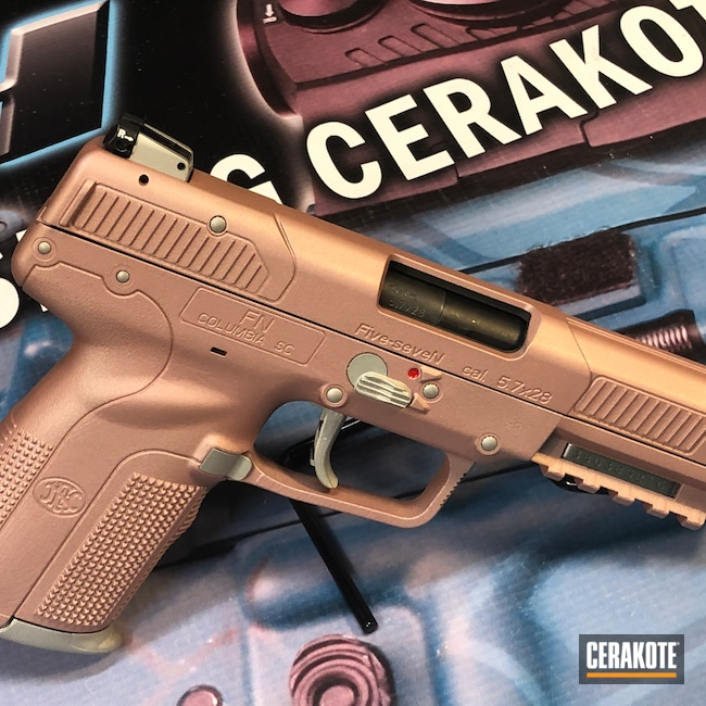 Cerakoted: SHOT,Pistol,ROSE GOLD H-327,5.7,FN
