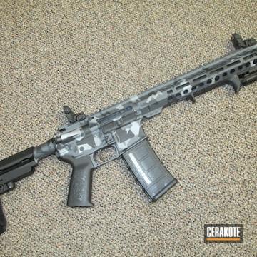 Cerakoted Splinter Camo 10.5 Inch Ar Pistol