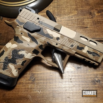 Cerakoted Desert Multicam Cz P-07 Handgun