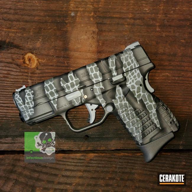 Cerakoted: S.H.O.T,9mm,Highland Green H-200,Concealed,Riptile Camo,Graphite Black H-146,Springfield XD,Pistol,Satin Aluminum H-151,Titanium H-170,Springfield Armory,SDS