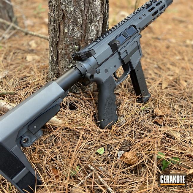 Cerakoted: S.H.O.T,9mm,Sniper Grey H-234,AR Pistol,Graphite Black H-146,AR
