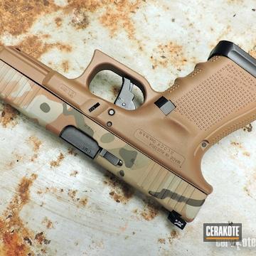Cerakoted Arid Multicam Glock 19x 9mm