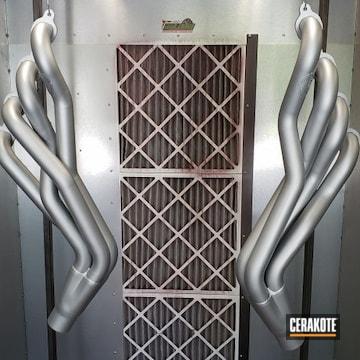 Cerakoted Silver Camaro V8 Headers