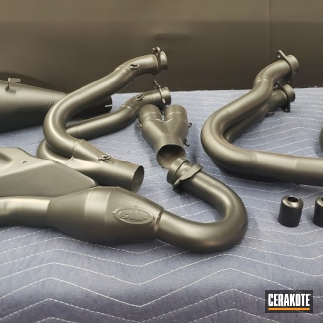 Cerakoted: Exhaust,Suzuki,gsxr,More Than Guns,Automotive,Cobra Black V-166,Motorcycle