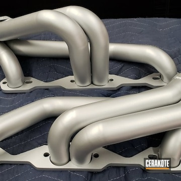 Cerakoted Chevy V8 Headers In C-7700