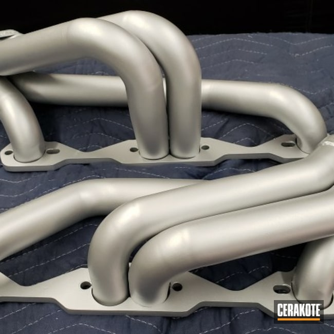 Cerakoted: Chevy,V8 Headers,Long Tube Headers,S10,More Than Guns,Automotive Exhaust,CERAKOTE GLACIER SILVER C-7700