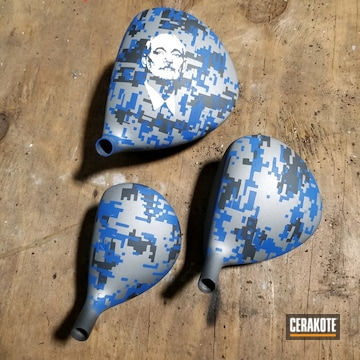 Cerakoted Digital Camo Golf Clubs