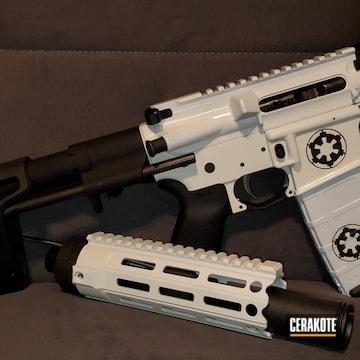 Cerakoted White Stormtrooper Themed Ar Pistol