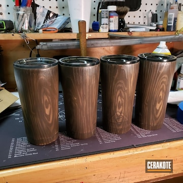 Cerakoted Woodgrain Tumblers In H-146, H-226, H-7504m And H-258