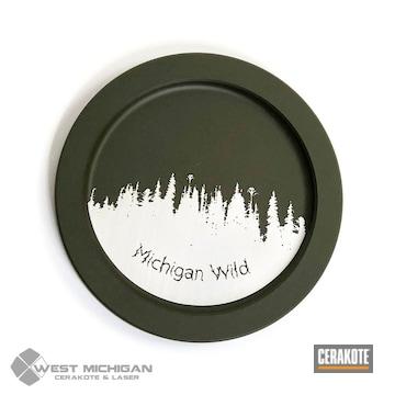 Cerakoted Custom Laser Etched Coasters
