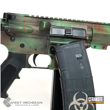 Cerakoted Zombie Apocalypse Themed Ar-15 In H-221 And H-316
