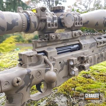 Cerakoted Stencil Multicam 6.5 Creedmoor Bolt Action Rifle