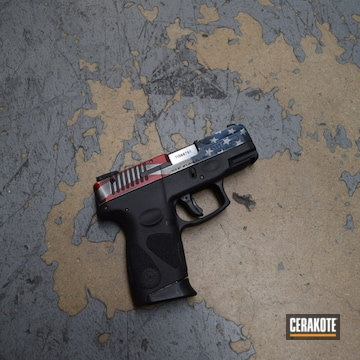 Cerakoted American Flag Themed Taurus Pt111 G2