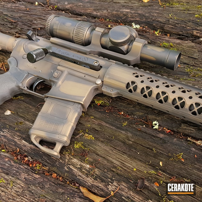 Cerakoted: S.H.O.T,Distressed,AR-10,Burnt Bronze H-148,Armor Black H-190,Tactical Rifle,.308,Custom AR