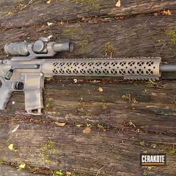 Cerakoted Distressed Bronze And Black .308 Ar-10
