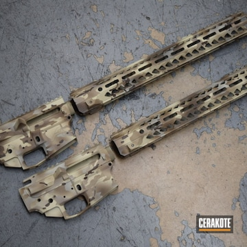 Cerakoted Multicam Ar-15 Upper / Lower / Handguard