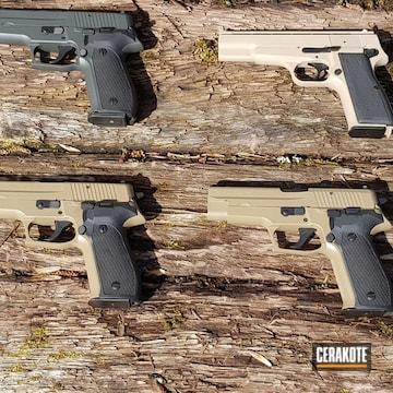 Cerakoted Sig Sauer Handguns In H-199, H-210 And H-265