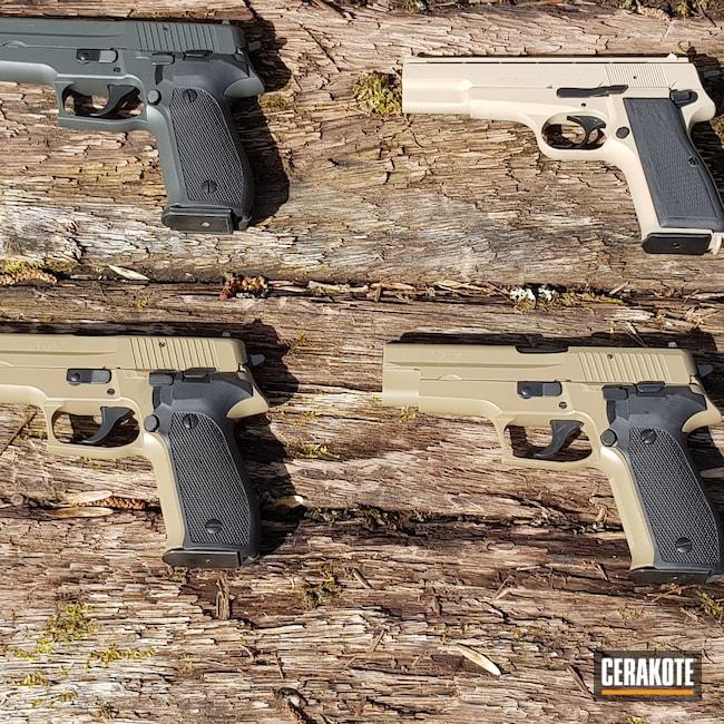 Cerakoted: S.H.O.T,9mm,Desert Sand H-199,Sig Sauer P228,Pistol,Sig Sauer,FEG,SIG™ DARK GREY H-210,Flat Dark Earth H-265