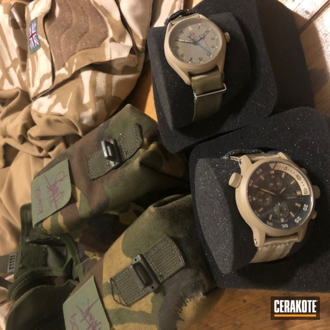 Cerakoted: Lifestyle,Desert Sand H-199,More Than Guns,Watch,Watches