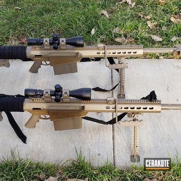 Cerakoted Long Range .50 Cal Rifles In E-200