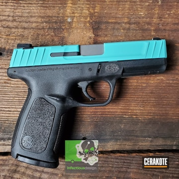 Cerakoted Two Toned S&w Handgun In H-175