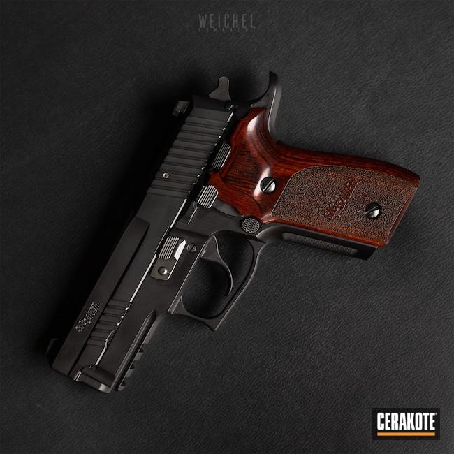 Cerakoted: S.H.O.T,Sig P229,Graphite Black H-146,P229,Sig Sauer P229 Elite,Pistol,Sig Sauer,Sig,Firearms,Handgun