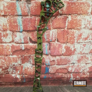 Cerakoted Hunting Bow With Custom Camo
