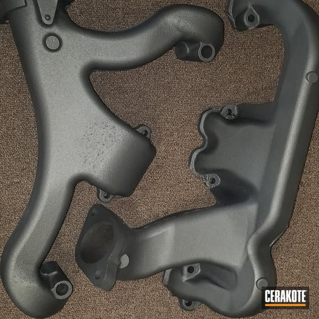 Cerakoted: Manifolds,TUNGSTEN C-111,Exhaust Manifolds,Exhaust Coating,Automotive