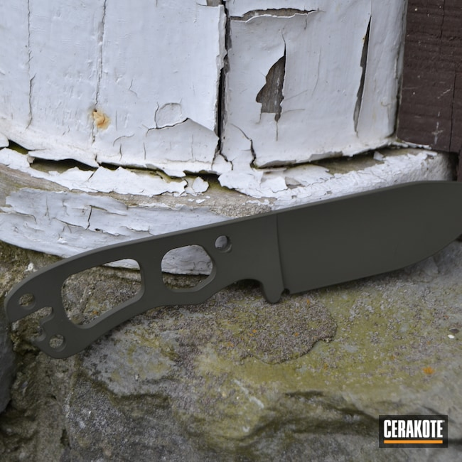 Cerakoted: SHOT,Tactical,American Tactical,Steel,O.D. Green H-236,Knife,Blade,Edge,Carbon