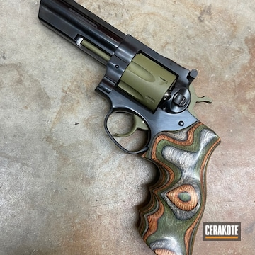 Cerakoted Green Ruger Revolver