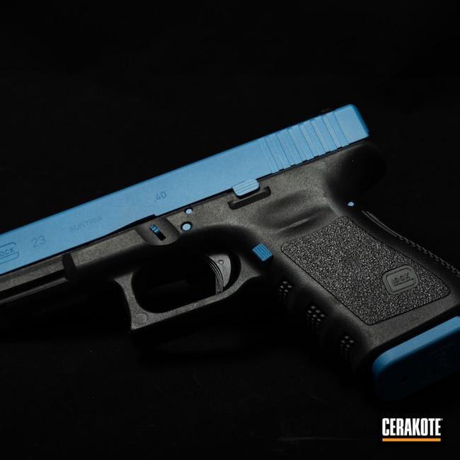 Cerakoted: SHOT,Ridgeway Blue H-220,Pistol,Glock,Glock 23,Firearms,.40,POLAR BLUE H-326