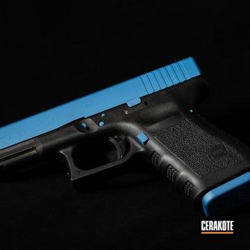 Cerakoted Blue Glock 23 Handgun