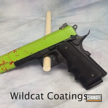 Cerakoted Zombie Killer Themed Taurus 1911 Handgun