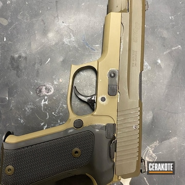 Cerakoted Refinished Sig Sauer P220 In H-146 And H-226