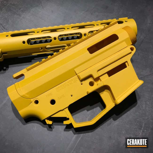 Cerakoted Yellow Ar Parts