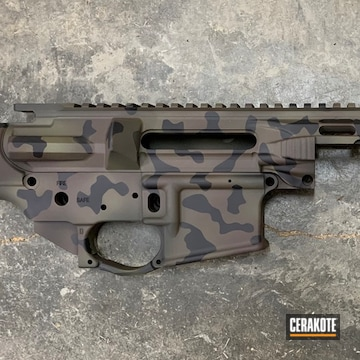 Cerakoted 3 Color Multicam Upper / Lower / Handguard In H-146, H-293 And H-189