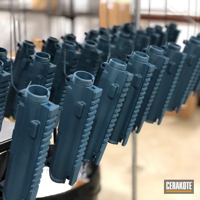 Cerakoted: SHOT,AR,AR 5.56,Gun Parts,OEM,Remington,DPMS,Production,Volume,Bushmaster,Blue Titanium H-185,AR-15