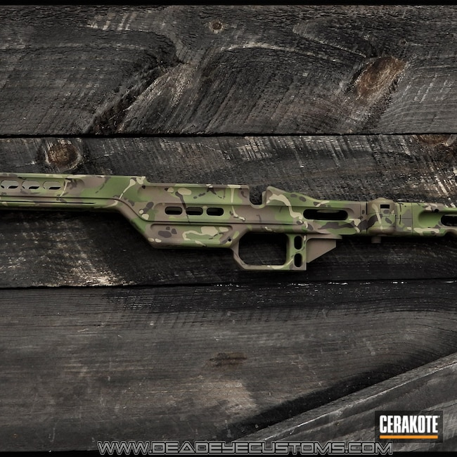 Cerakoted: SHOT,MULTICAM® BRIGHT GREEN H-343,MPA Chassis,Rifle Stock,MAGPUL® FLAT DARK EARTH H-267,MultiCam,MULTICAM® LIGHT GREEN H-340,Patriot Brown H-226,MULTICAM® PALE GREEN H-339,MULTICAM® DARK GREEN H-341