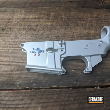 Cerakoted Ar-15 Lower Receiver In H-172, H-151 And H-216