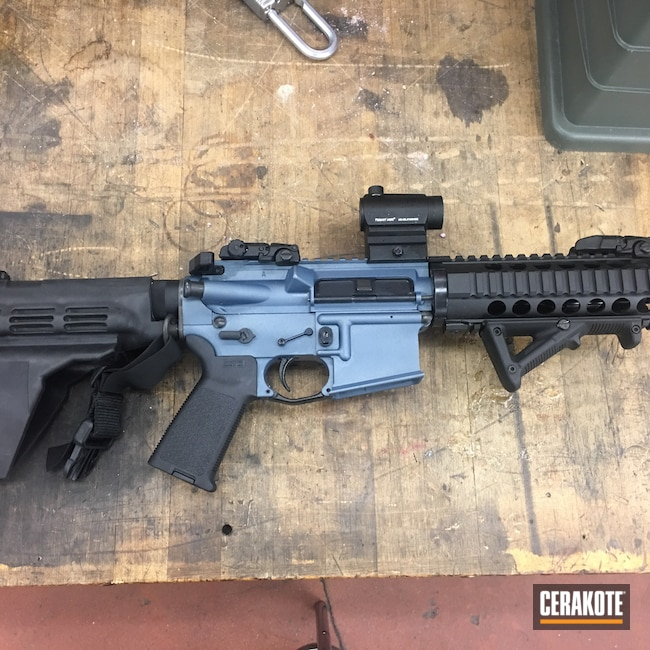 Cerakoted: S.H.O.T,AR Pistol,Tactical Rifle,Blue Titanium H-185,AR-15,AR15 Lower