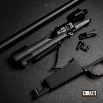 Cerakoted Black Mauser Rifle Parts